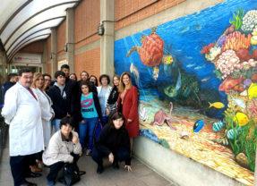 """El Hospital Severo Ochoa y Fundación Esfera realizan el mural inclusivo """"MarEsfera"""""""