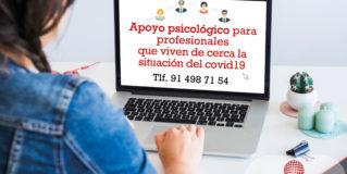 Fundación Esfera ofrece apoyo psicológico a profesionales que viven de cerca la situación del COVID-19