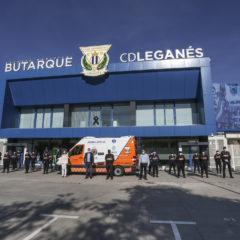 Protección Civil cuenta ya con la ambulancia donada por la Fundación del C.D. Leganés