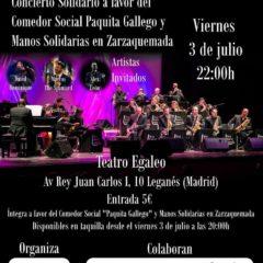 Leganés Big Band organiza un concierto solidario en el Teatro Egaleo