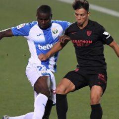El Leganés pierde 0-3 ante el Sevilla en Butarque