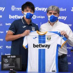 El CD Leganés presenta a su nuevo jugador, el japonés Gaku Shibasaki