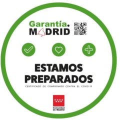 El sello Garantía Madrid que identificará a la hostelería y restauración, de las buenas prácticas de protocolos antiCOVID-19