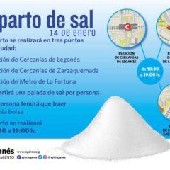 Quejas ante la escasez de puntos de reparto de sal habilitados en Leganés