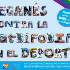 La Asociación Legaynés, clubes locales de deporte y el Ayuntamiento de Leganés suman fuerzas en el día contra la LGTBIfobia