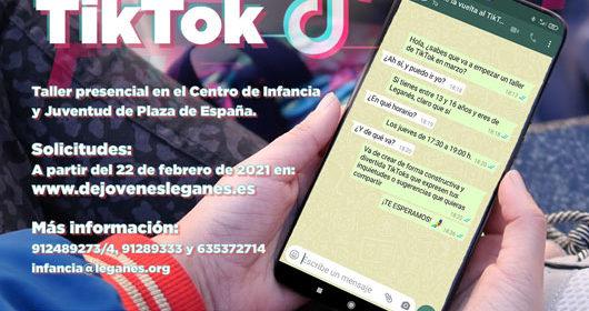 """El Ayuntamiento de Leganés desarrolla el taller """"Dale la vuelta al TikTok"""""""