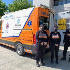 Protección Civil de Leganés suma una tercera ambulancia a su flota para emergencias