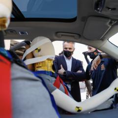Emergencias Madrid pone a prueba un nuevo sistema de asientos salvavidas para autobuses