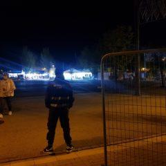Cuatro detenidos por lanzar botellas a la Policía, que también requisó armas blancas en el entorno del recinto ferial de Leganés
